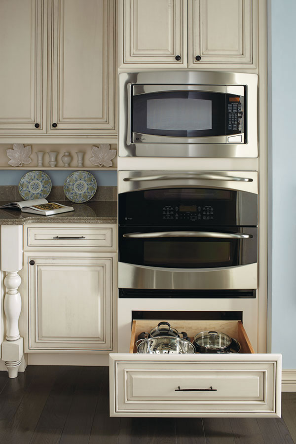 Double Oven Cabinet with Deep Drawer  Diamond Cabinetry