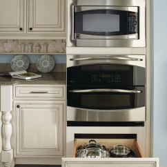 Schrock Kitchen Cabinets Refrigerator Small Double Oven Cabinet With Deep Drawer - Diamond Cabinetry