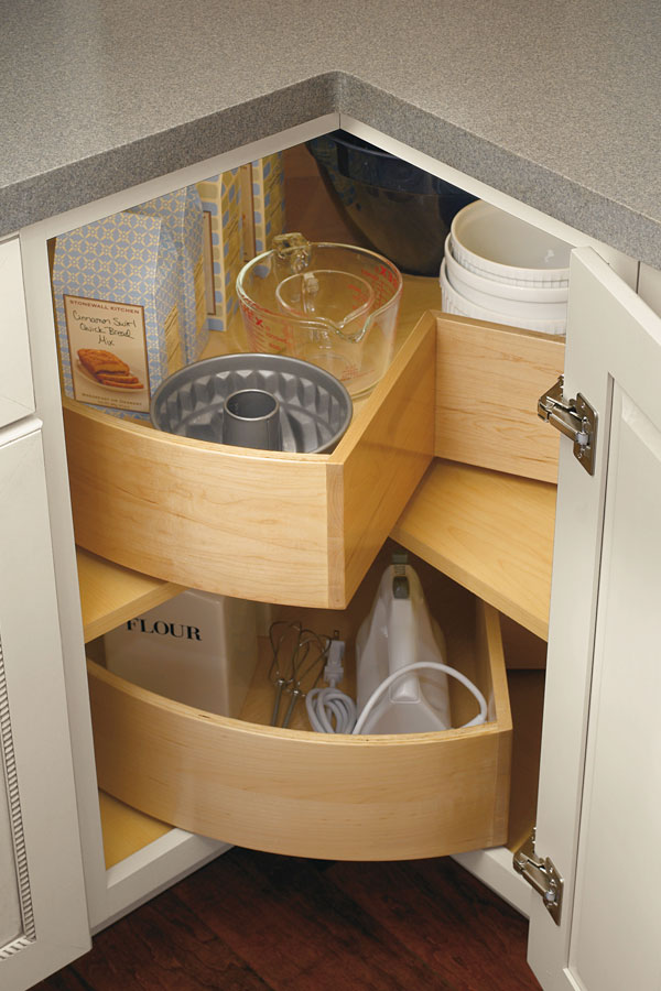 Base Deep Bin Lazy Susan Cabinet  Diamond Cabinetry