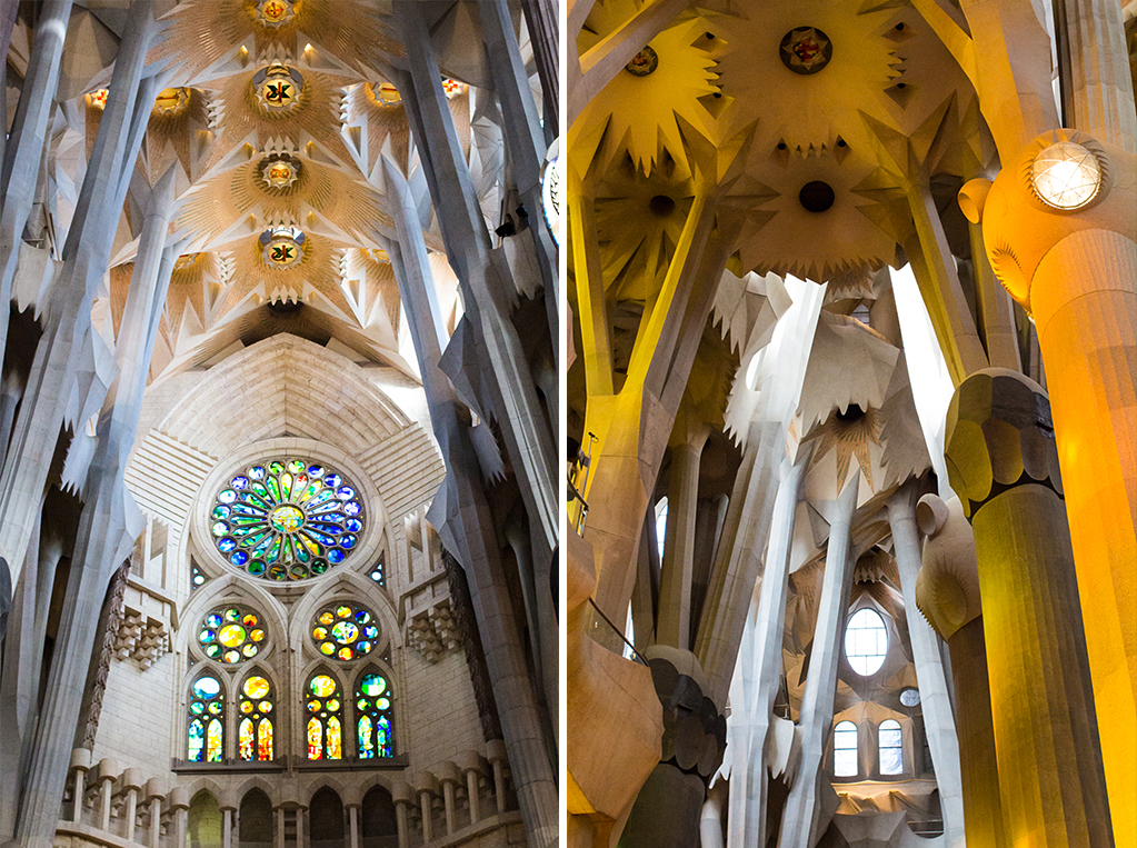 Sagrada Familia interior architecture ceiling