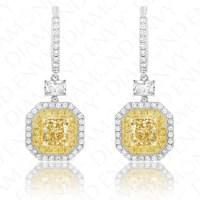 Yellow Diamond Earrings|Fancy Yellow Diamonds 1.23ct ...