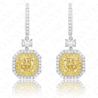 Yellow Diamond Earrings|Fancy Yellow Diamonds 1.23ct ...