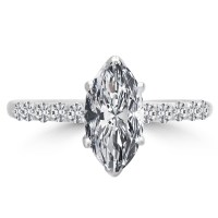 1.11 Ct Marquise Cut Diamond Engagement Ring VS2/F 14K ...