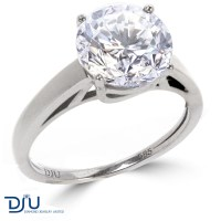 Certified 3.11 CT F/VS2 Round Diamond Solitaire Engagement ...