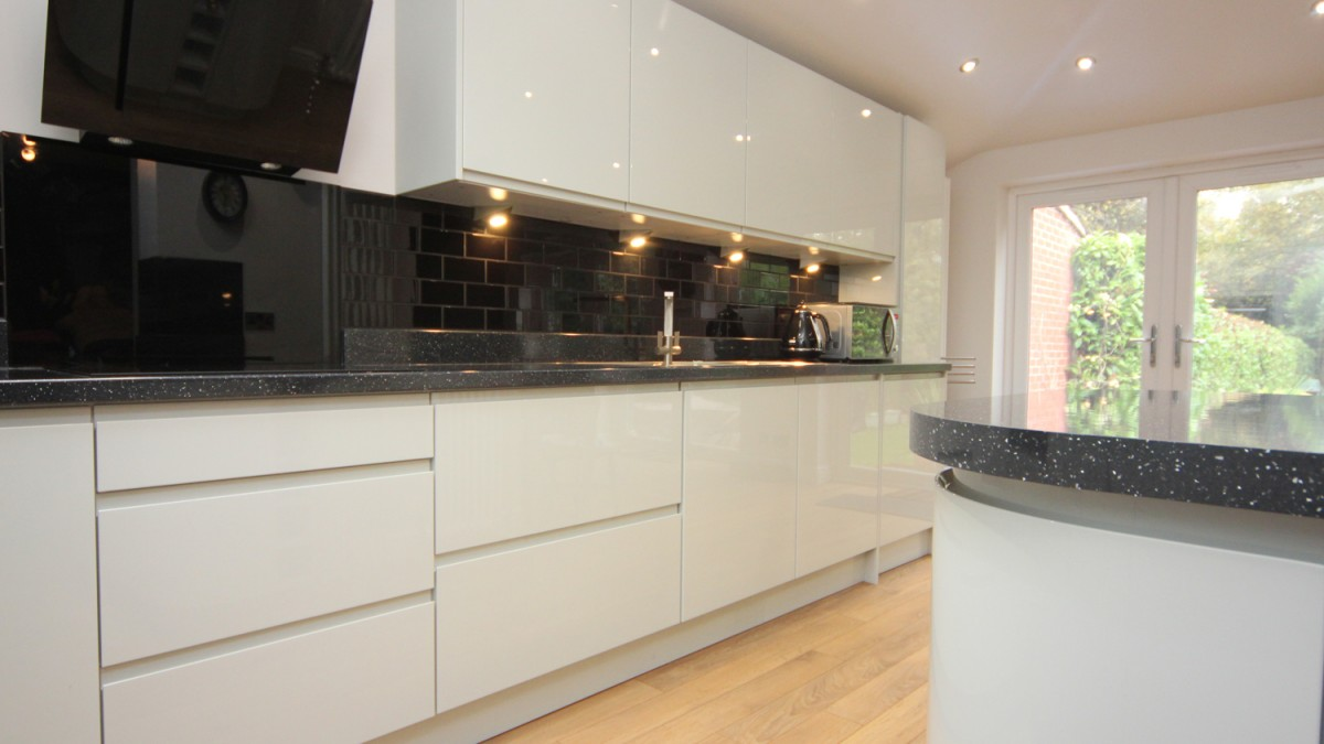 kitchen under cabinet lighting cabinets for cheap white contemporary with granite worktops ...