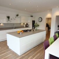 White Gloss Kitchen with Black Granite Worktops, Worcester ...