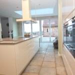 Contemporary White Kitchen With Grey Marble Worktops West Midlands Diamond Kitchens Driotwich