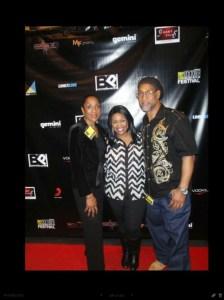 Danielle Ellis on the red carpet with Hop Hop Legend Dj Kool Herc