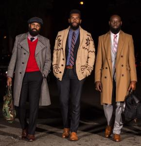 The Bearded Dapper Gents walking down the runway
