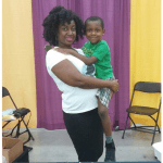 Adrienne Case and her son
