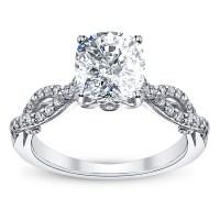 Infinity Pave Insignia Verragio Natural Diamond Engagement ...