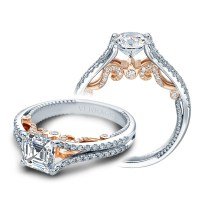 Natural Halo French Pave Engagement Ring