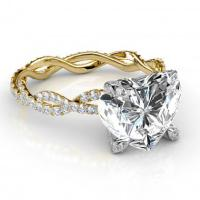 Yellow Gold Heart Shape Engagement Rings