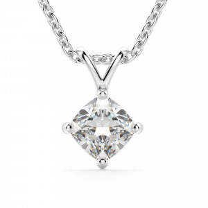 Cushion Cut Kite Set Pendant