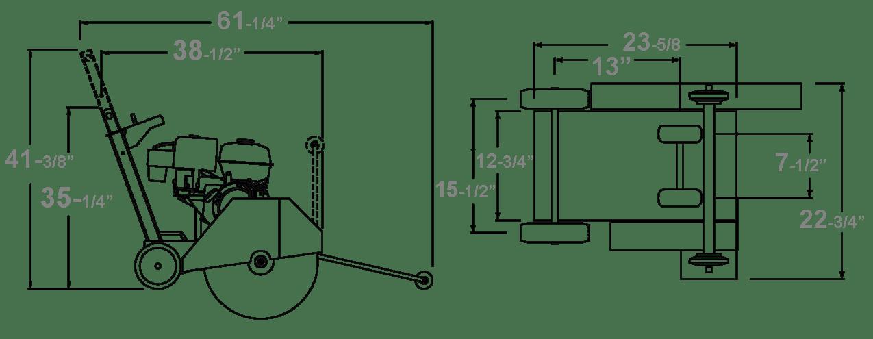 CC1300XL SMALL WALK BEHIND SAW