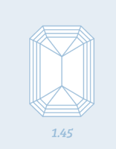 Emerald cut diamond length to width ratios also shape quality color and clarity diamonds pro rh diamondso