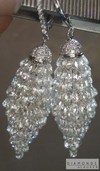 Colorless Diamond Earrings | Briolette Diamond Earrings ...