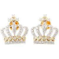 Cross Crown Diamond Earrings - B13733 - Best Diamonds ...