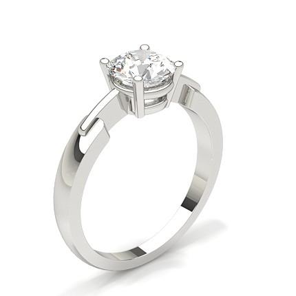 white gold round diamond