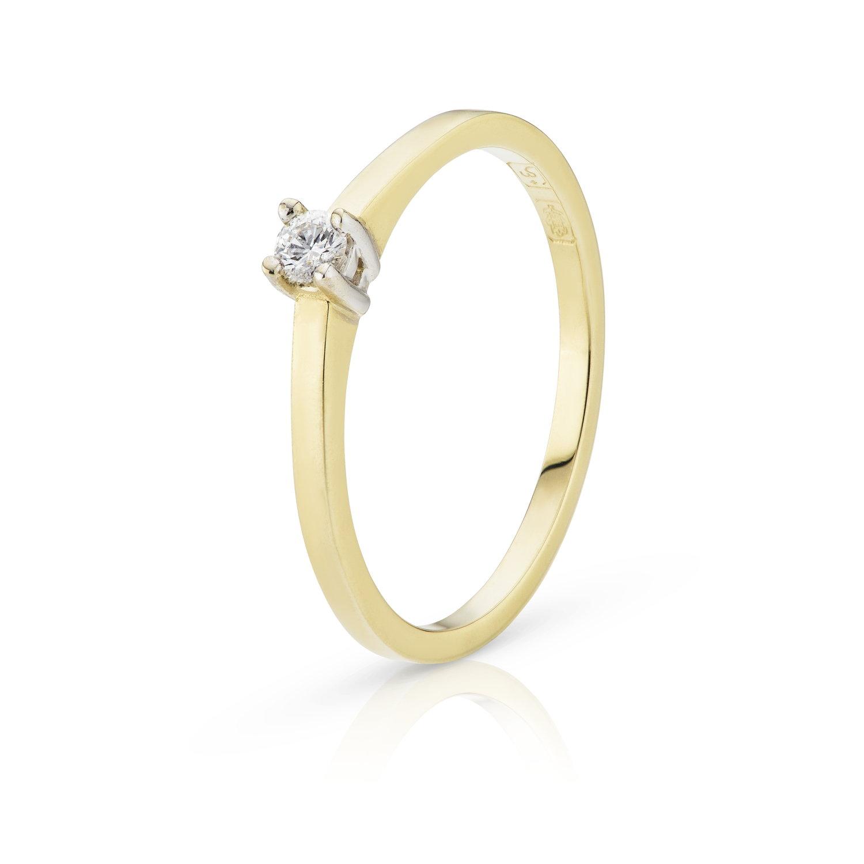 Gouden ring dames Helena  Diamondsilove