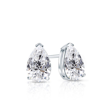 Certified 14k White Gold V