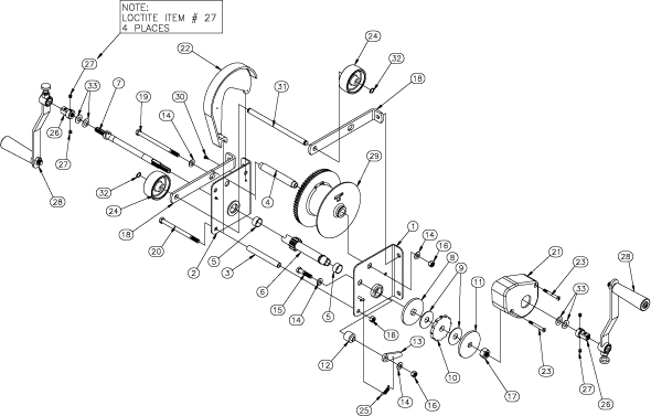 Diamond Tool: Sumner 783590 MX Winch Assembly