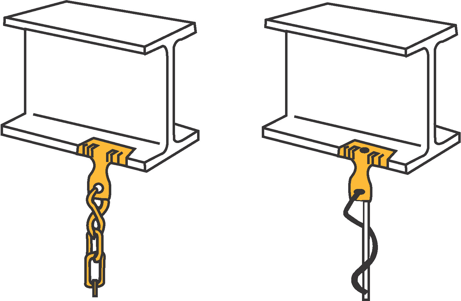 Diamond Tool: CADDY 4H24 Hammer-On Flange Clips