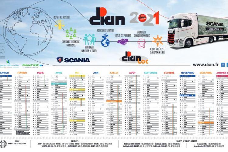 Notre calendrier Dian-Scania est disponible! contactez-nous pour le recevoir…