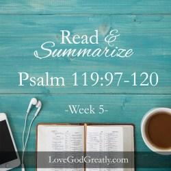 Psalm 119 W5D5