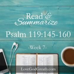 Psalm 119 W7D5
