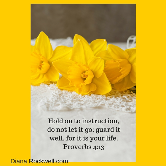 Hold on to instruction, do not let it go; guard it well, for it is your life.