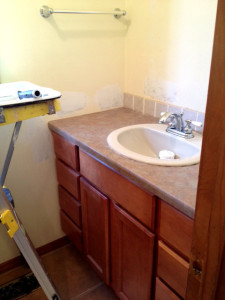 bathrom before