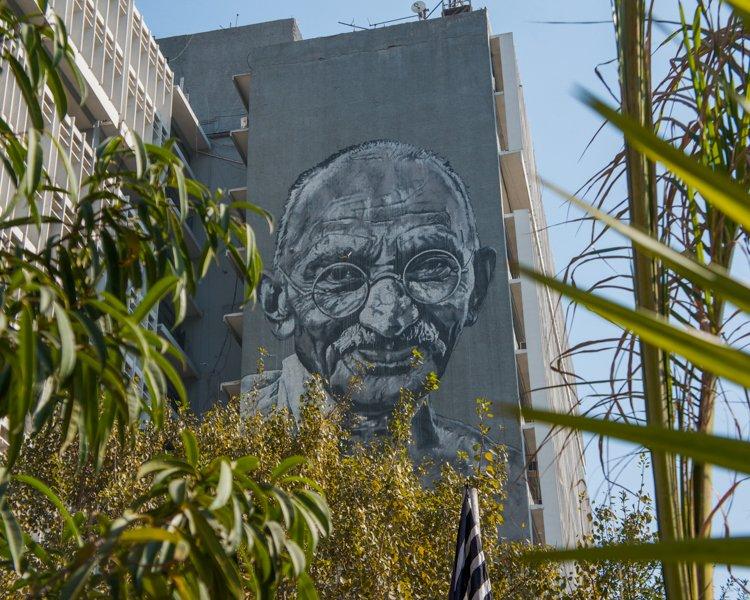 Que ver en Delhi: Mural Gandhi