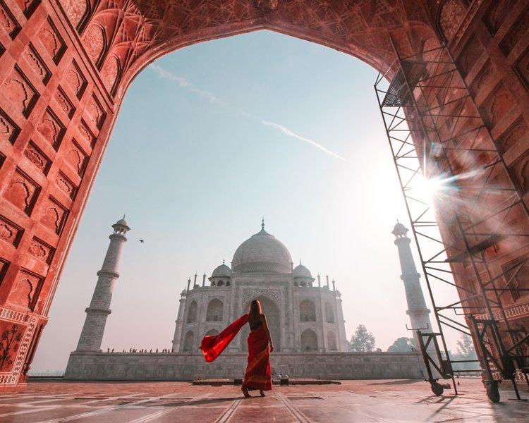 Amanecer Taj Mahal