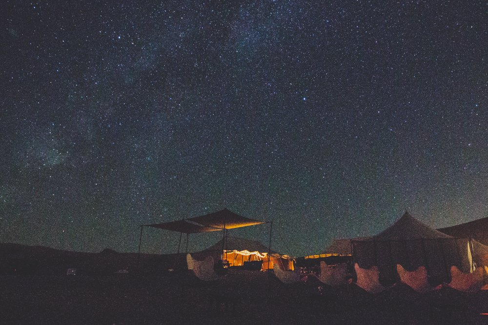 Scarabeo Camp at night