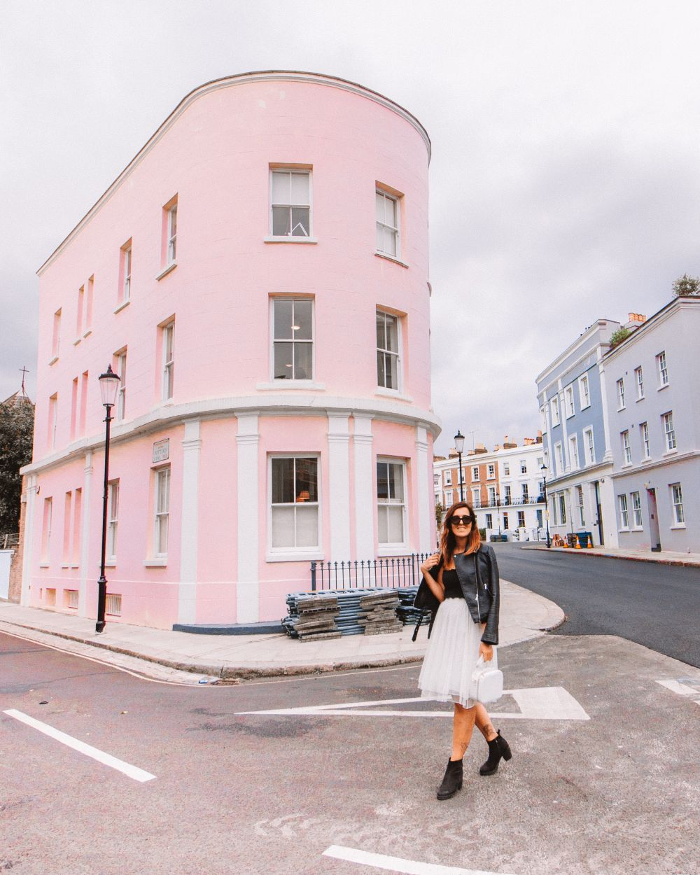 Pink building Notting Hill
