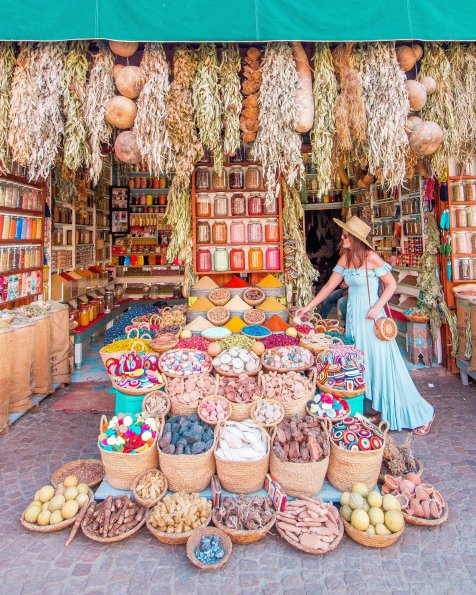 Marrakech spices market