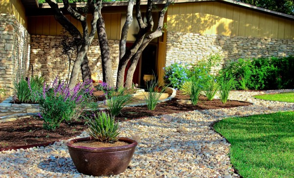 reducing lawn with beautiful