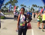 Diane after LB Marathon