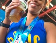 OC Marathon 2017 - post-race beer