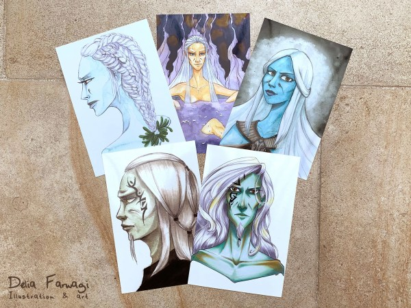 Wraith postcards by Delia Farwagi