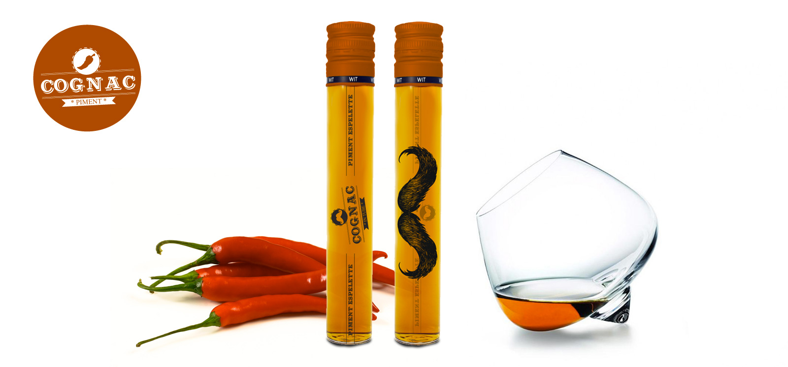 cognac in tube saveur piment d'espelette