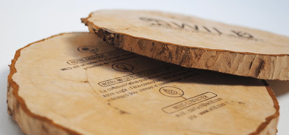 flyer en rondin de bois WILD