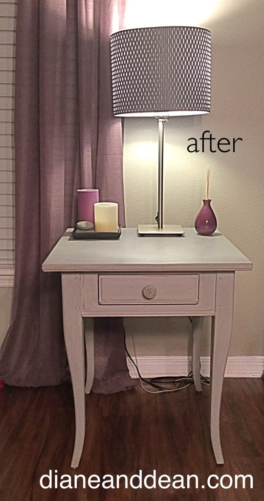 After picture of chalk paint night stand