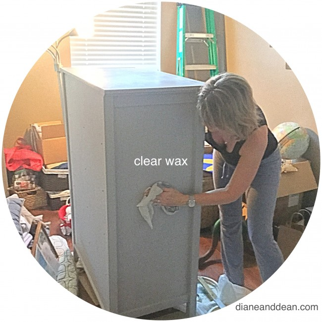 bedroom again  applying clear wax on furniture. 7 Quick Tips for Chalk Painting Furniture   Diane and Dean DIY