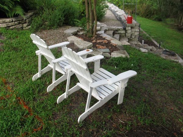 Adirondack chair inspiration in the landscape
