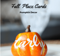 Fall Place Cards For Your Table