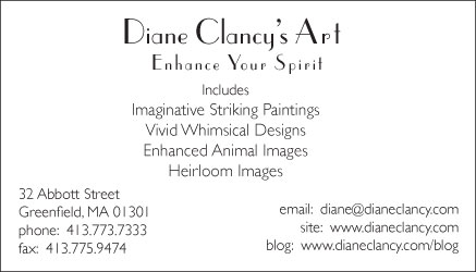Business Card for Art Business-back-horizontal