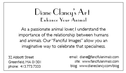 Biz Card for Animals Back