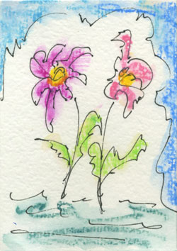 Flowers in the Sun-ACEO